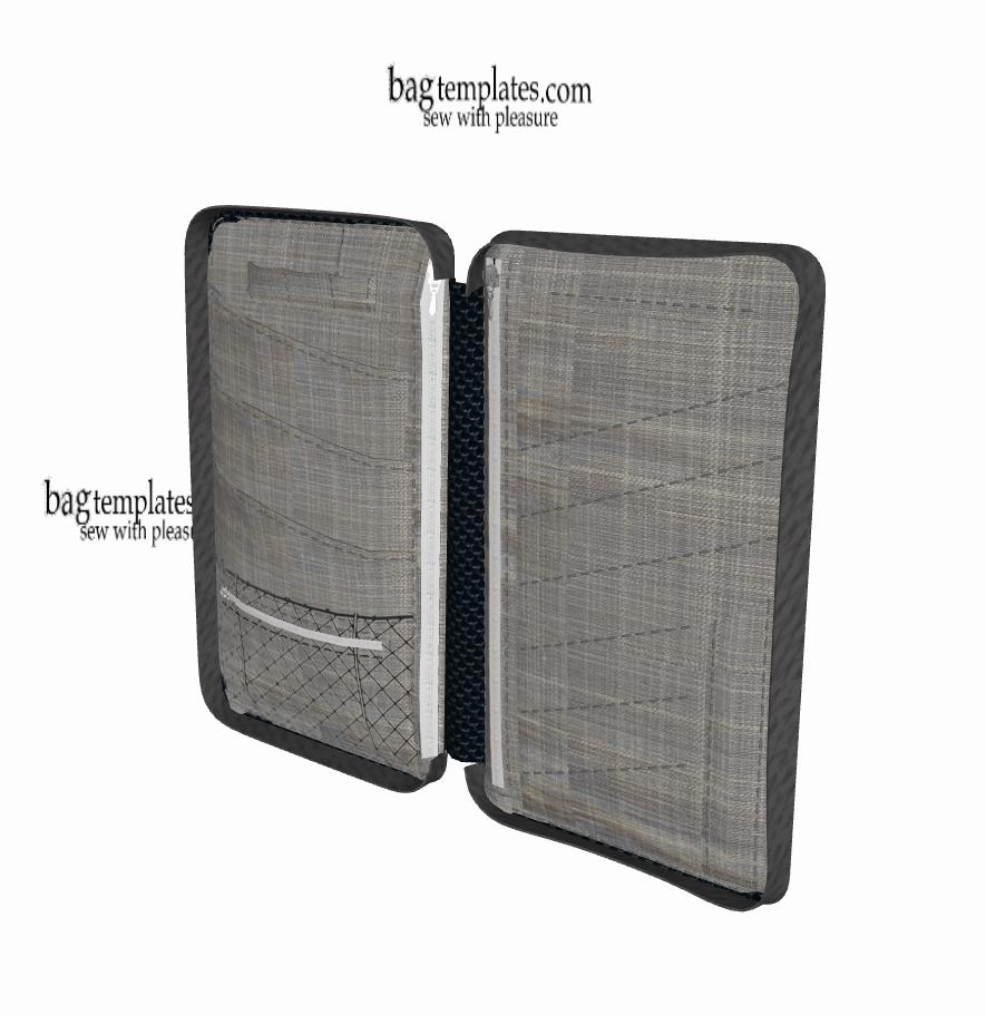 Pattern for traveler 0406 – Bag templates